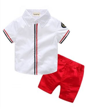 two piece summer toddler outfit for boys