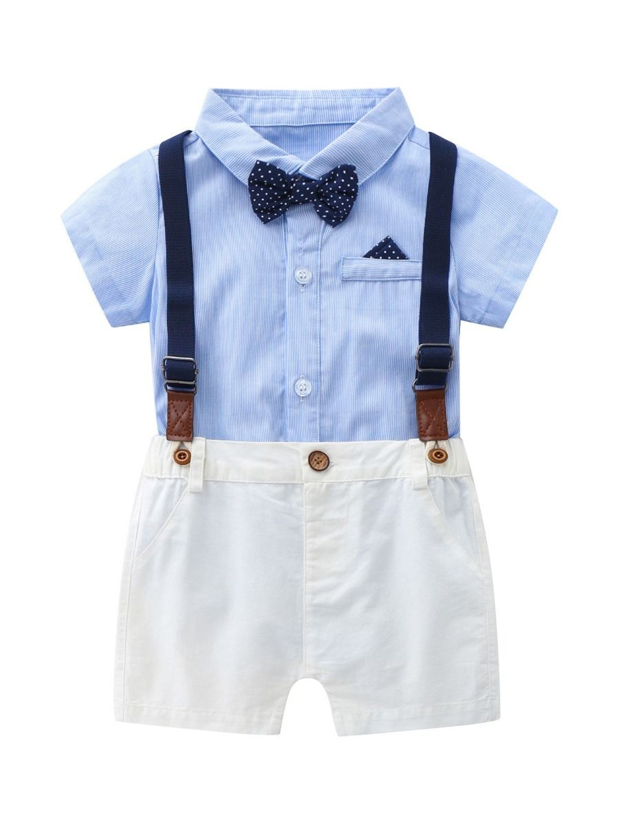 two pieces baby boy little gentleman set 12 to 18 months