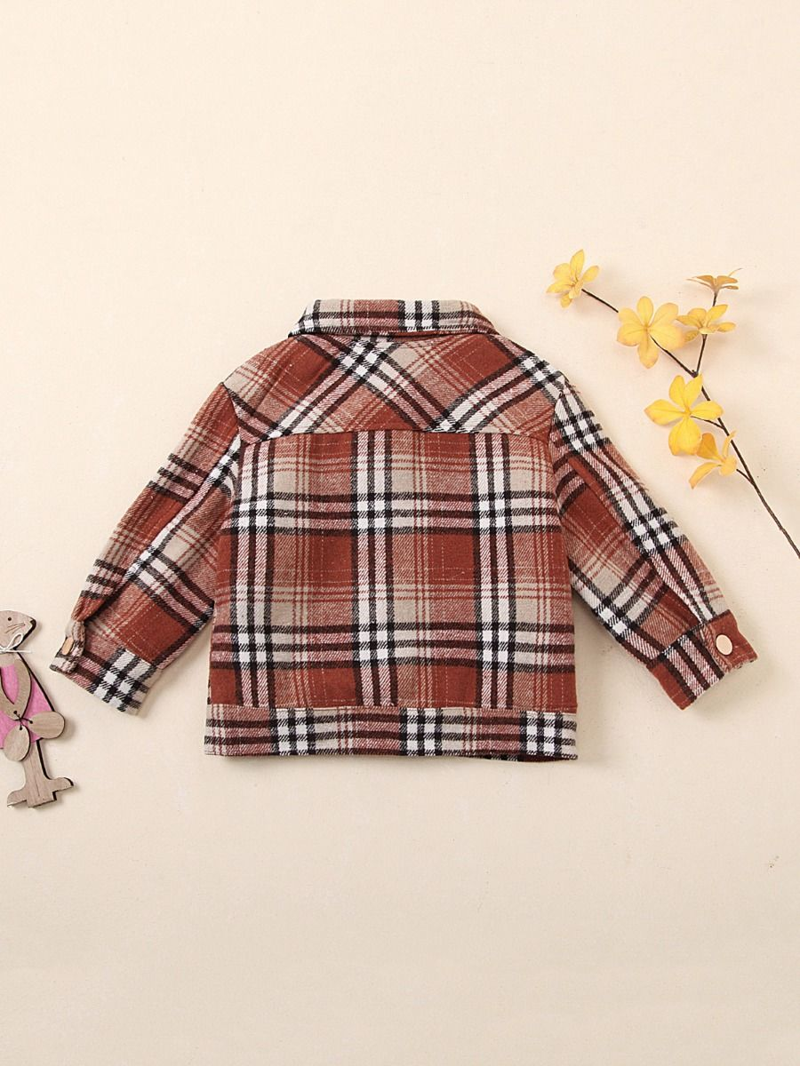 unisex checked jacket 18 to 24 months