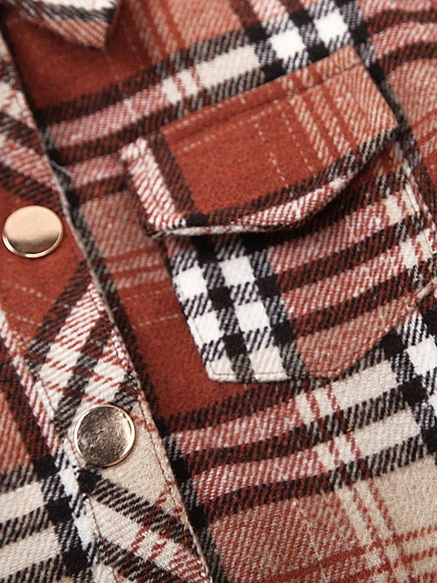 unisex checked jacket 3 to 4 years